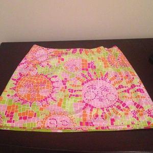 Lilly Pulitzer mosaic sun skirt